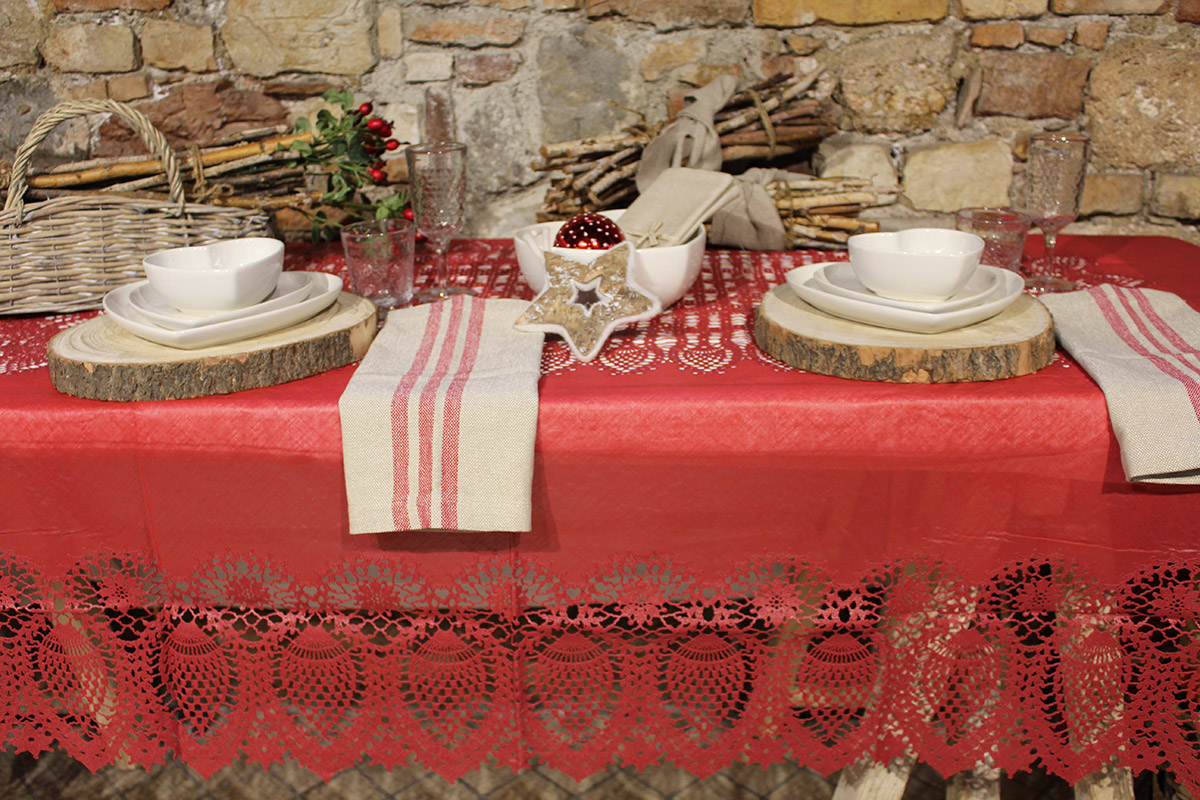 Tovaglia pizzo vinile giardino di rose biancheria per for Per la casa online