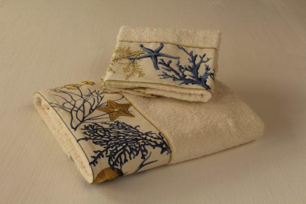 coppia asciugamani coralli