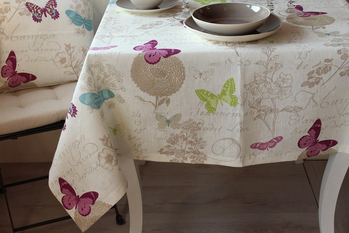 Tovaglia butterfly giardino di rose biancheria per la for Tovaglie shabby