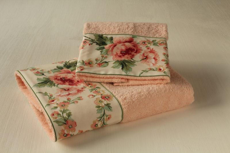 Coppia asciugamani Peonie