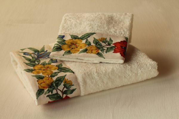 coppia asciugamani iris