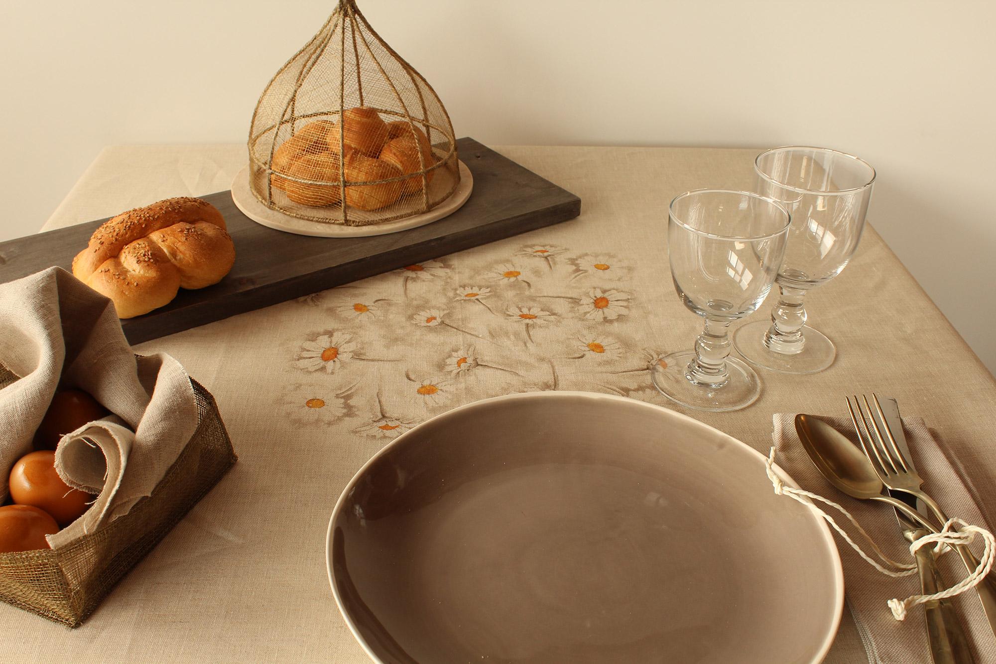 Tovaglia volaille giardino di rose biancheria per la casa online tovaglie letto - Tovaglie da bagno ...