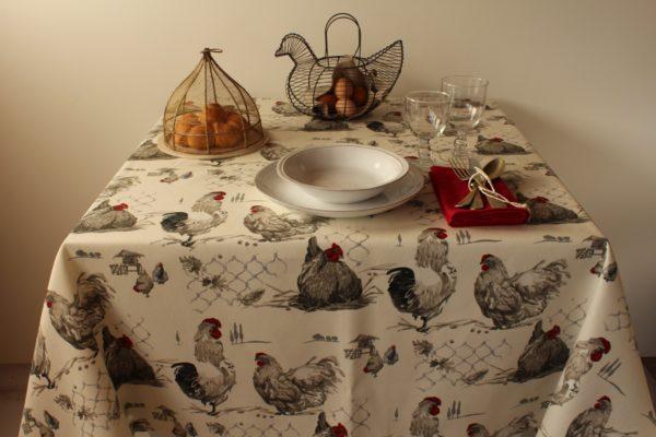 tovaglia galline