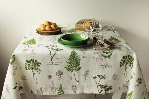tovaglia in lino botany